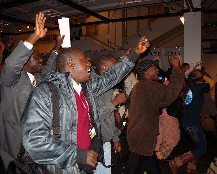 African delegates to UN Climate Convention protest, Copenhagen, Denmark