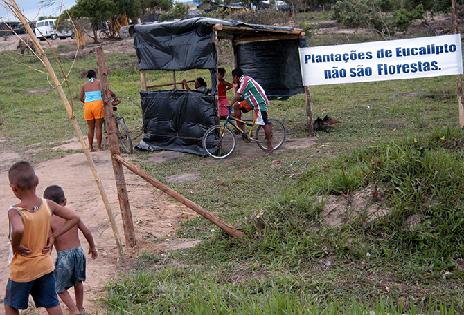 28  Outside MST camp, Brazil