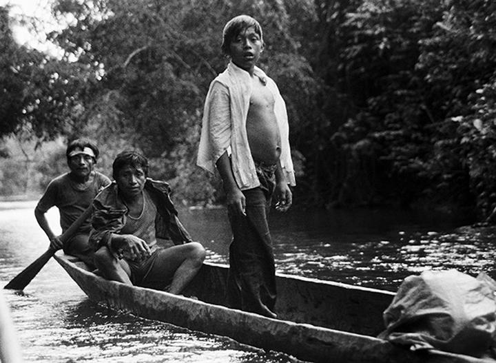 *3 Men in Dugout Canoe, Nicaragua