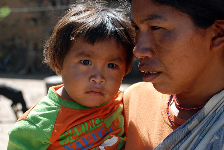 *6 Child-Woman Ayoreo, Paraguay
